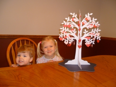 Kids with tree